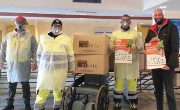 La rete di solidarietà del Comitato Genitori Bambini Cardiopatici omaggia con uova di Pasqua medici, infermieri e operatori sanitari del Torrette di Ancona